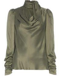 Zimmermann - Blusa con cuello lazado - Lyst