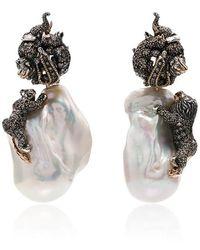 Bibi Van Der Velden - Baroque Pearl Animal Earrings - Lyst