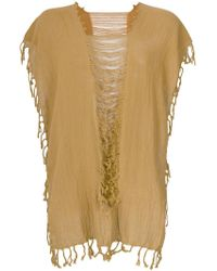 Caravana - Convertible Fringed And Distressed Top - Lyst