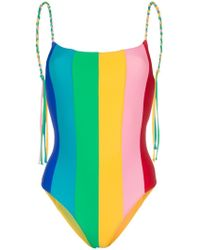 Paper London - Backless Rainbow Swimsuit - Lyst