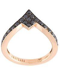 Anapsara - 'pinky' Black Diamond Ring - Lyst