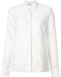 Nellie Partow - Floral Insert Shirt - Lyst