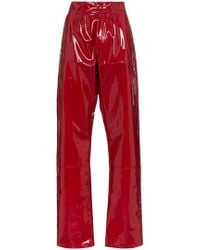 GmbH - X Browns Marie High-waisted Vinyl Trousers - Lyst