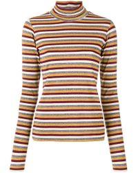 Antonio Marras - Stripe Metallic Turtleneck Sweater - Lyst