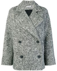 Dusan - Tweed Buttoned Coat - Lyst