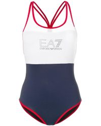 EA7 - Strappy Back Swimsuit - Lyst