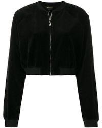 Juicy Couture - Swarovski Embellished Velour Crop Jacket - Lyst