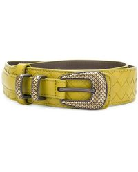 Bottega Veneta - Intrecciato Weave Belt - Lyst