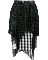 Facetasm - Checked Skirt - Lyst