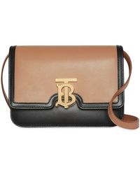 cc31f9418f1b Burberry Burleigh Small Leather Shoulder Bag in Black - Lyst