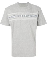 Sacai - Embroidered Pocket T-shirt - Lyst