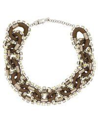 DSquared² - Crystal Embellished Necklace - Lyst