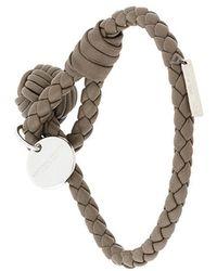 Bottega Veneta - Steel Intrecciato Nappa Bracelet - Lyst