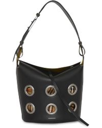 Burberry - The Medium Bucket Bag In Grommeted Leather - Lyst
