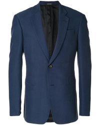 Emporio Armani - Textured Two-button Jacket - Lyst