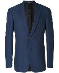 Emporio Armani - Textured Two-button Jacket - Lyst