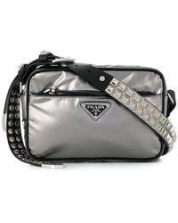 Prada - Studded Strap Shoulder Bag - Lyst