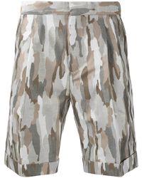Cerruti 1881 - Camouflage Print Shorts - Lyst