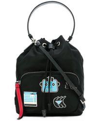 Prada - Handtasche mit Patches - Lyst