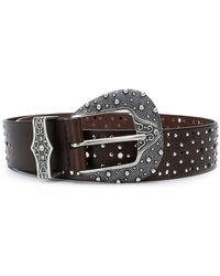 Orciani - Engraved Buckle Belt - Lyst