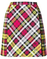 Le Kilt - X Fred Perry Pleated Tartan Mini Skirt - Lyst