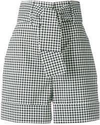 Sara Battaglia - Belted Vichy Shorts - Lyst