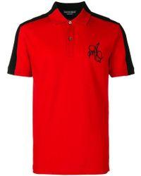 Alexander McQueen - Two Tone Polo Shirt - Lyst