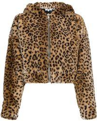 RE/DONE - Faux Leopard Jacket With Hood Ears - Lyst