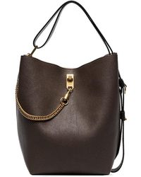 Givenchy - Brown Gv3 Grained Leather Bucket Bag - Lyst
