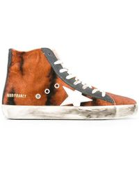 Golden Goose Deluxe Brand - Women's G29ws591a30 Multicolour Leather Hi Top Trainers - Lyst