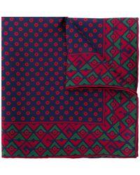 Gucci - Geometric G Print Pocket Square - Lyst