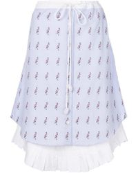 Jimi Roos - Flamingo Print Skirt - Lyst
