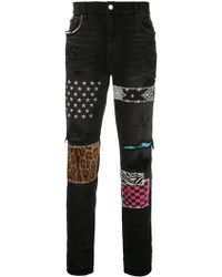 Amiri Stud Detail Jeans - Black