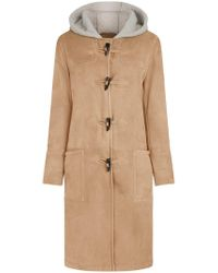Mackintosh - Beige Shearling Duffle Coat - Lyst