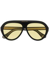4a2204d893e Gucci - Tinted Aviator Sunglasses - Lyst
