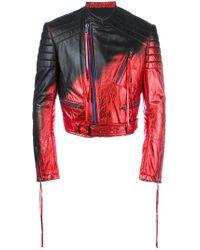 Haider Ackermann - Metallic Biker Jacket - Lyst