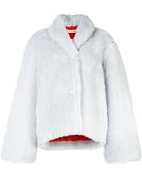Marni | Furry Buttoned Jacket | Lyst