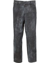 Aganovich | Faded Print Cropped Trousers | Lyst