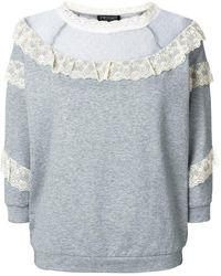 Twin Set | Lace Panels Sweatshirt | Lyst