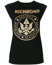 John Richmond - Logo Patch Tank Top - Lyst