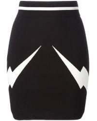 Neil Barrett - Lightning Bolt Mini Skirt - Lyst
