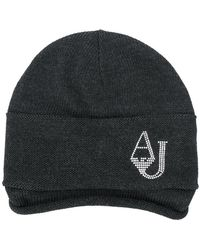 Armani Jeans - Draped Knitted Beanie - Lyst
