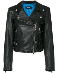DIESEL | L-tara Leather Jacket | Lyst