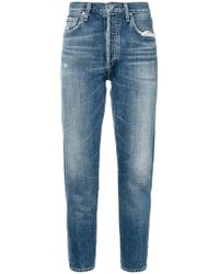 Citizens of Humanity - Liya Cropped Tapered Jeans - Lyst