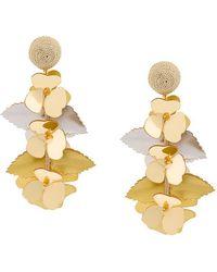 Oscar de la Renta - Climbing Flower Earrings - Lyst
