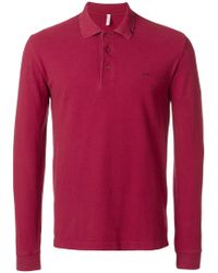 Sun 68 - Fitted Polo Sweatshirt - Lyst