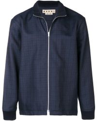 Marni - Zip-front Check Jacket - Lyst