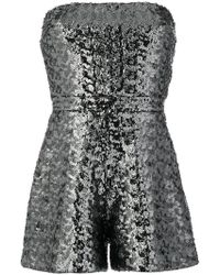 Alexis - Strapless Playsuit - Lyst
