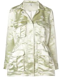 Ganni - Floral Military Jacket - Lyst