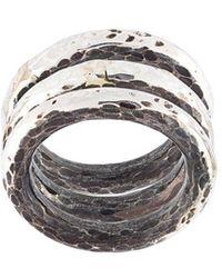 Henson - Hammered Ring Set - Lyst